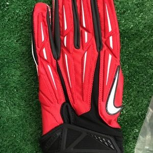 NIKE SUPERBAD PADDED RED FOOTBALL GLOVES XXL